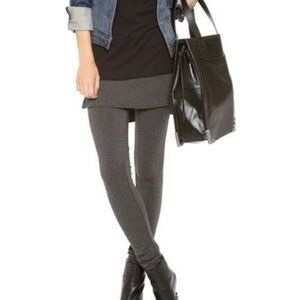 Leggings with Skirt Attached Charcoal Grey M/L